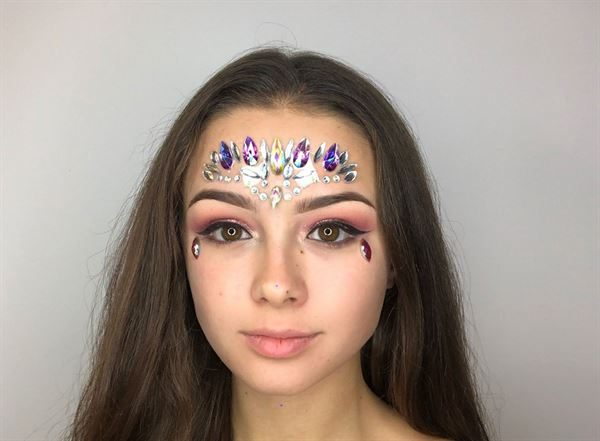 face jewels or face gems- 6 designs to choose from