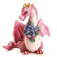 Fiddlehead miniature garden- dragon with flowers