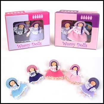 Personitas worry dolls, angels and fairies are made by hand in Colombia by one family