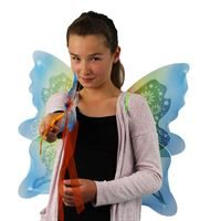 butterfly wings and wand set- rainbow colours