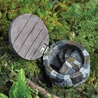 Open Gnome Hatch for Miniature Garden