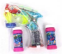 Bubble Blower with LED flashing lights and batteries