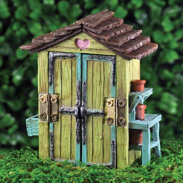 Miniature Garden Shed for fairy gardens