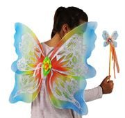 butterfly wings and wand in Rainbow design