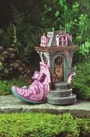 fairy garden fairy house- Pink Slipper Chateau