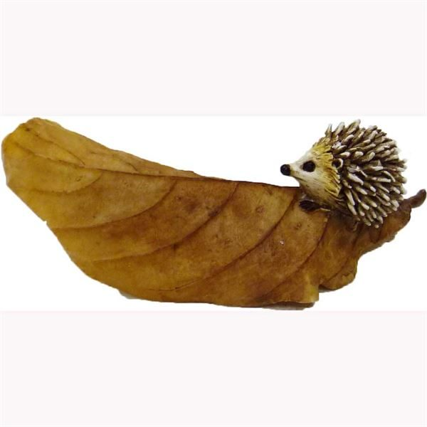 Fairy Garden Figurines- Hedgehog on Leaf (Fiddlehead)