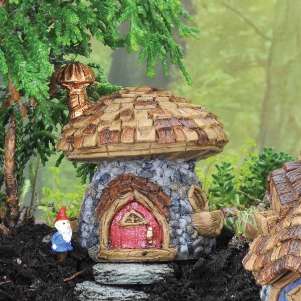 Mushroom Cottage Fairy House by Fiddlehead Fairy Gardens