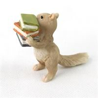 fiddlehead fairy gardens- squirrel with books