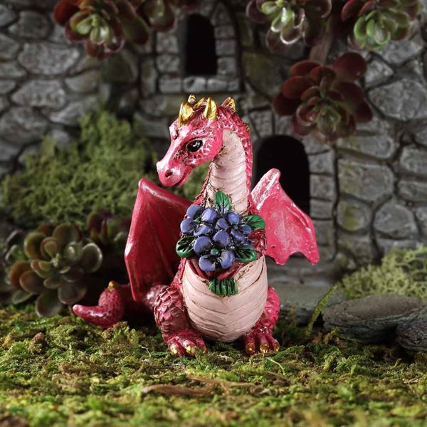 Dragon with flowers- Fiddlehead