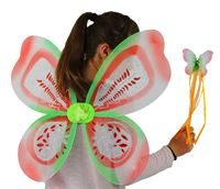 Butterfly wings and wand set- Acorn pattern