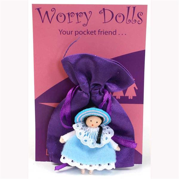 blue worry doll