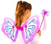 pink fairy wings and wand set