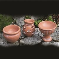 3 Terracotta style pots for a fairy garden made by Fiddlehead USA