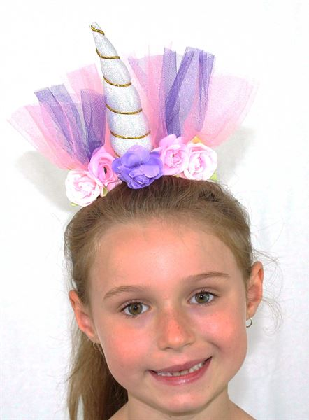 unicorn headdress- silver