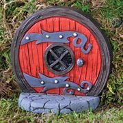 Fairy Door- Round Red Fiddlehead Fairy Door
