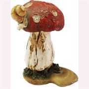 Fairy Garden Figurine- Toadstool With Snail (Fiddlehead)