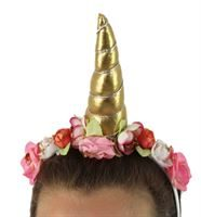 unicorn headdress in gold