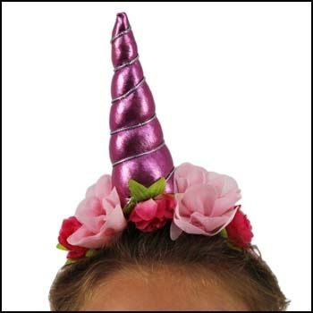 a wide range of unicorn headbands in 4 colour choices