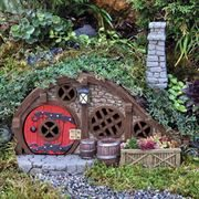 Red Root Burrow Fairy House (Fiddlehead)