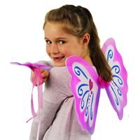 pink butterfly wings and wand set