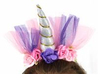 unicorn headband- silver